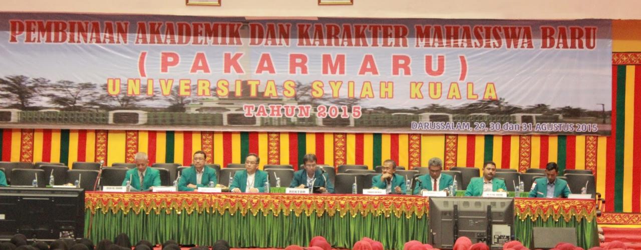 JADWAL PENGAMBILAN ATRIBUT PAKARMARU UNTUK MAHASISWA BARU UNIVERSITAS SYIAH KUALA