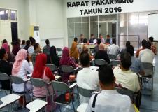Rapat PAKARMARU UNIVERSITAS SYIAH KUALA TAHUN 2016